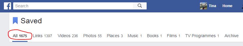 saved fb posts