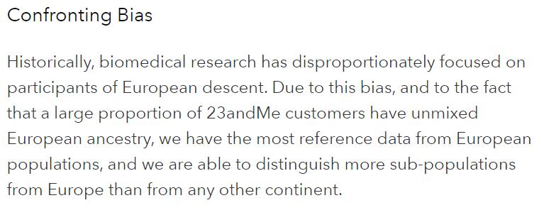23andMe ancestry bias