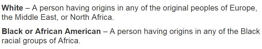 us census categories